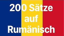 Rumänisch lernen: 200 Sätze auf Rumänisch (Muttersprachlerin)
