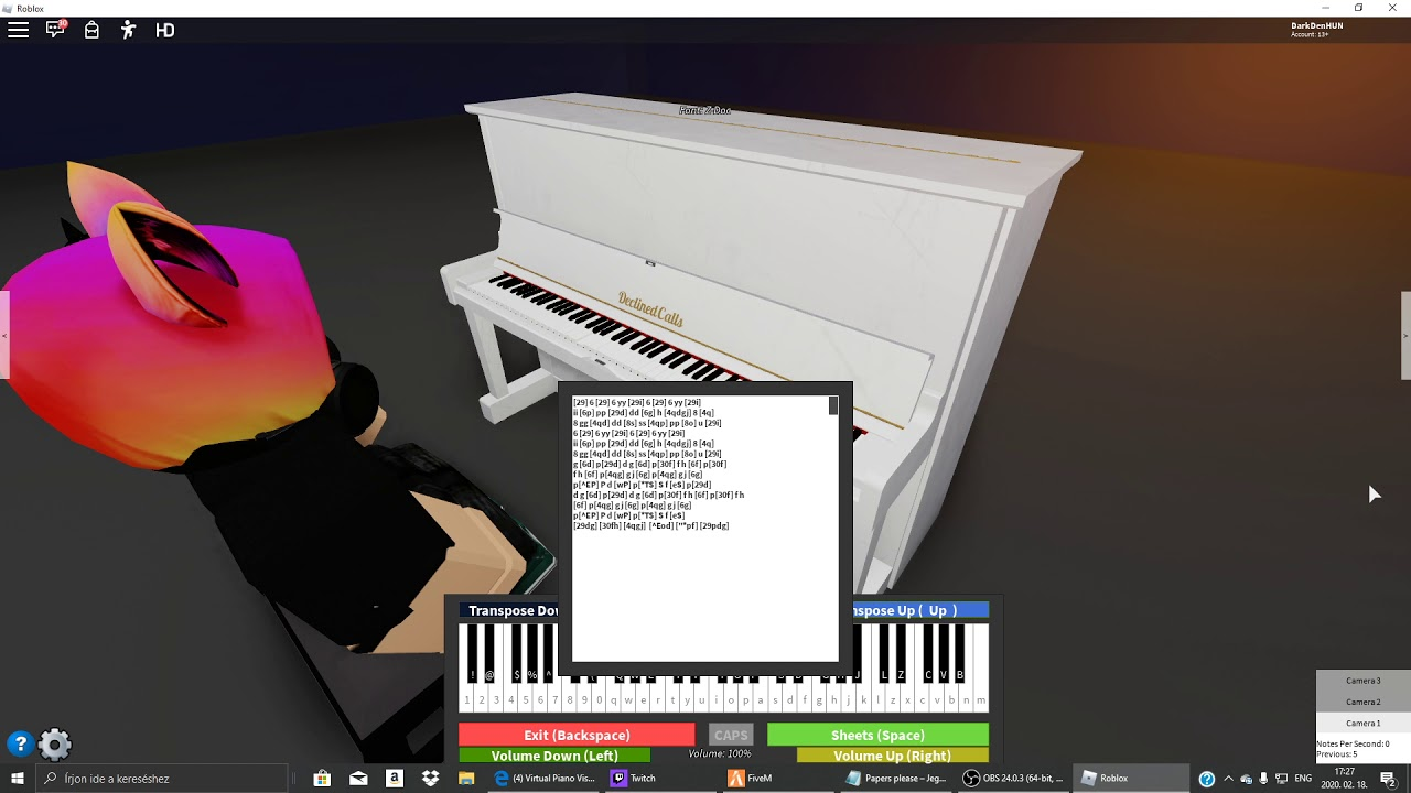 Roblox Piano Papers Please Theme Youtube