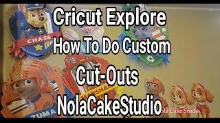 Cricut Explore Tutorials: Custom Cut-Outs For Parties