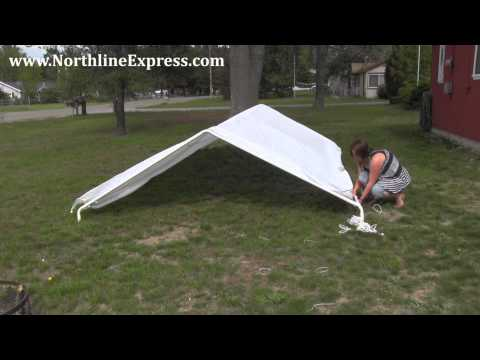 How to Assemble a King Canopy 10' x 20' 6-Leg Universal Canopy - Car port