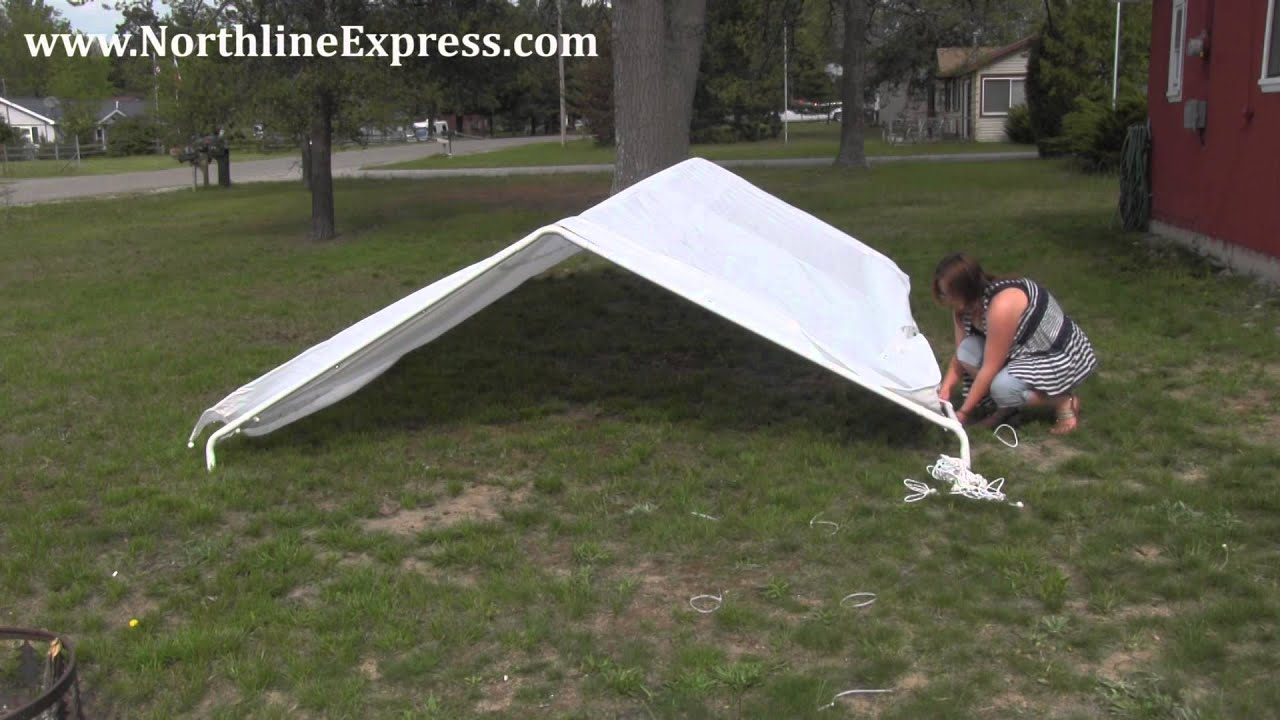 How to Assemble a King Canopy 10u0027 x 20u0027 6-Leg Universal Canopy - Car port - YouTube & How to Assemble a King Canopy 10u0027 x 20u0027 6-Leg Universal Canopy ...