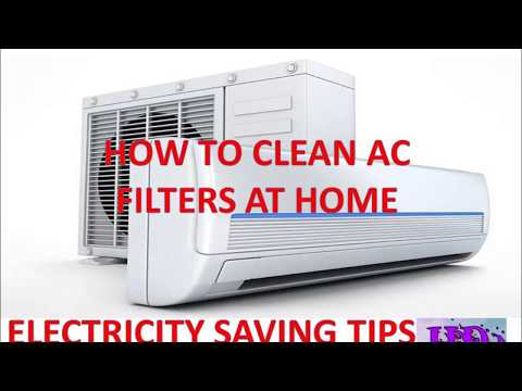 HOW TO CLEAN AC FILTERS AT HOME || ELECTRICITY SAVING TIPS || EASY SERVICING OF SPLIT AC IN HINDI