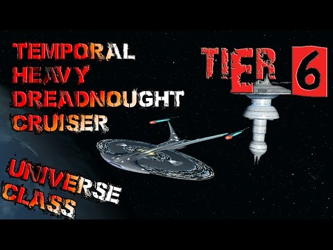 Temporal Heavy Dreadnought Cruiser [T6] - Universe Class - with all ship visuals - Star Trek Online