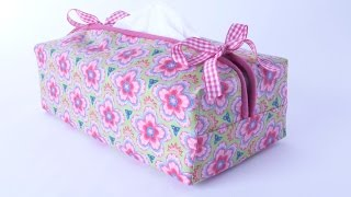 Tissue Box Cover sewing tutorial by Debbie Shore