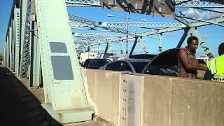 MTA TBTA Police Assisting A Stranded Driver On The Tri Borough Bridge