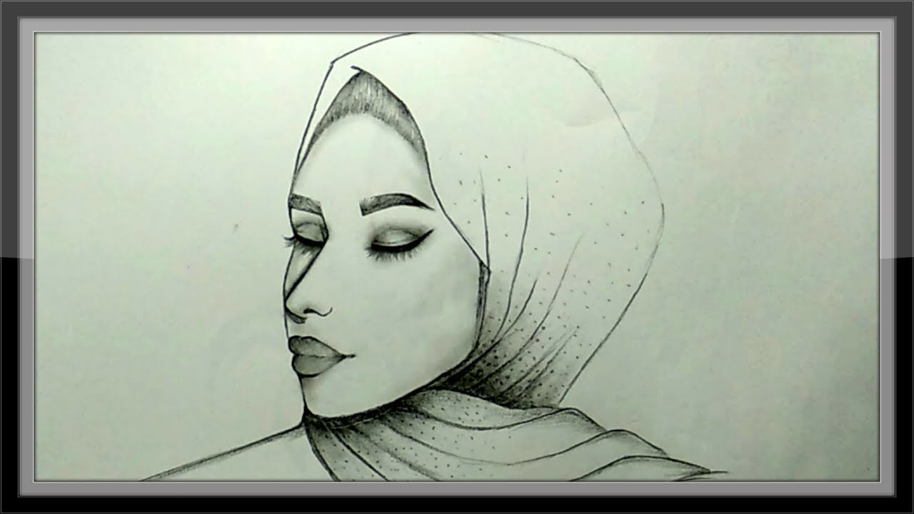 Cool Pencil Drawing Beautiful Girl Picture Simple And Easy