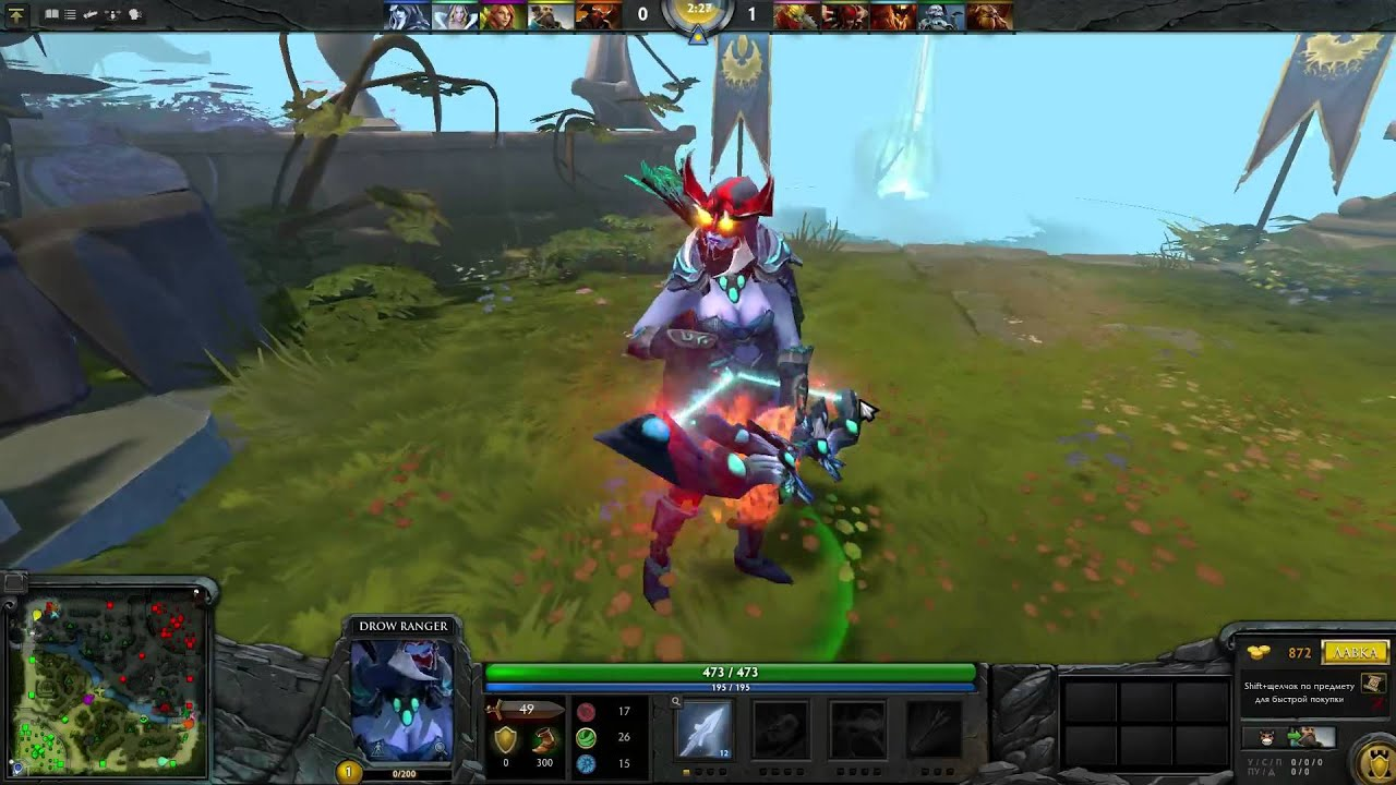 Drow Ranger S Mania S Mask Immortal: Drow Mania's Mask + Effect + Monarch Bow