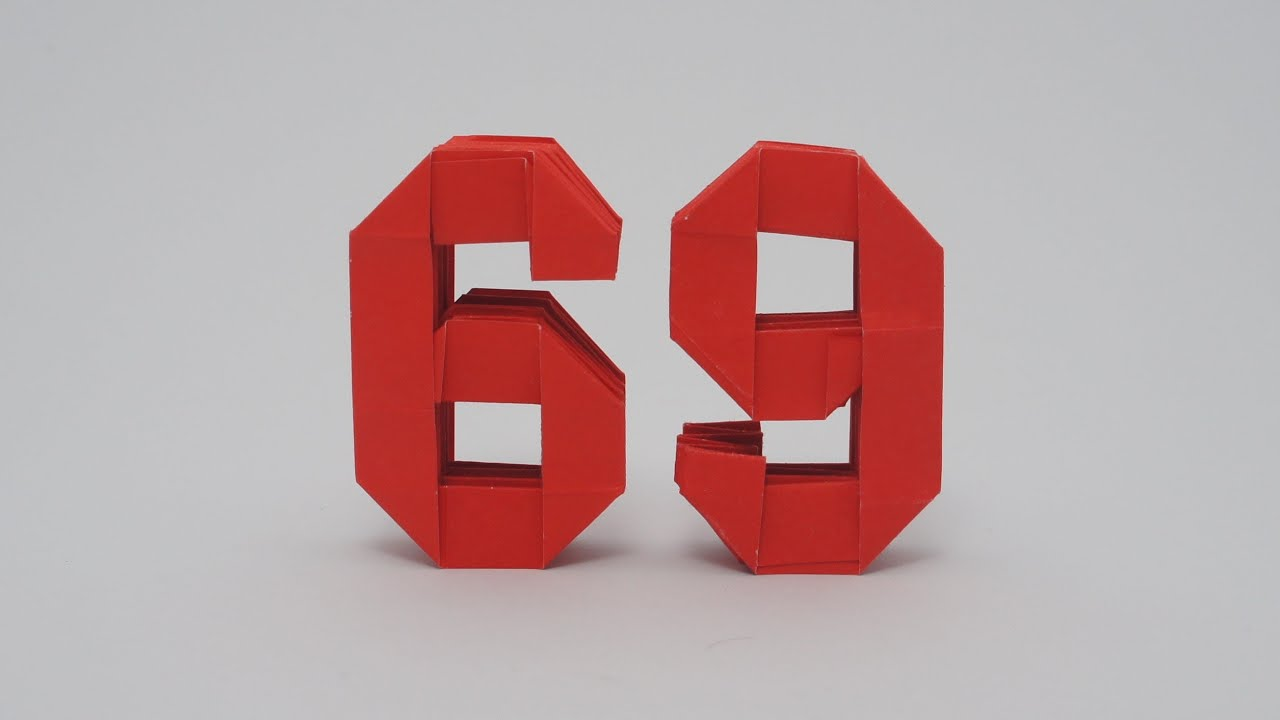 origami numbers 6 and 9 youtube