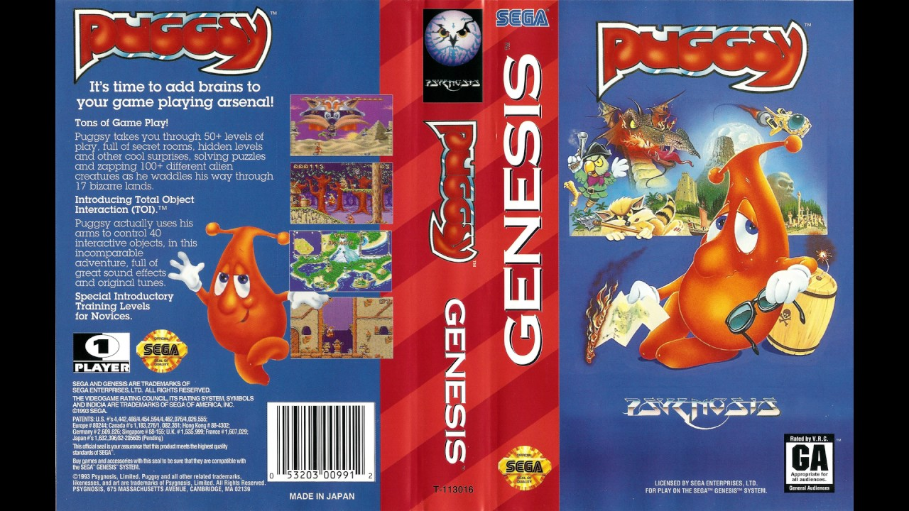 [SEGA Genesis Music] Puggsy - Full Original Soundtrack OST