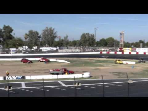 Super Modified Seniors Heat race - Madera raceway 8-15-15