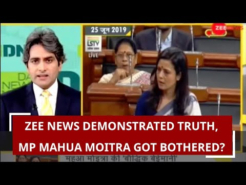 Zee News demonstrated truth, MP Mahua Moitra got bothered?