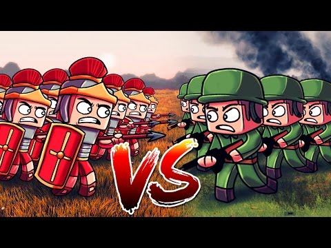 Minecraft | 500 WW2 US TROOPS VS 500 ROMAN LEGIONNAIRES! (Massive Mob Battles)