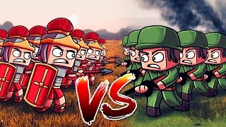 Minecraft | 500 WW2 US TROOPS VS 500 ROMAN LEGIONNAIRES! (Massive Mob Battles)