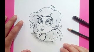 Como dibujar un rostro de chica paso a paso   How to draw a girl's face