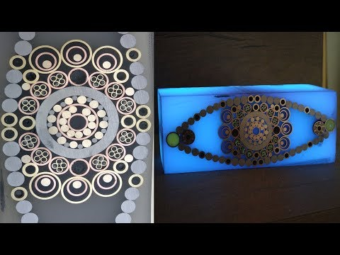 DIY Mosaic Pins Slab out of Tubes and Resin