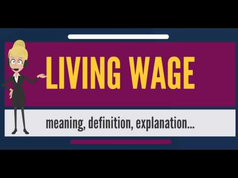 What is LIVING WAGE? What does LIVING WAGE mean? LIVING WAGE meaning, definition & explanation