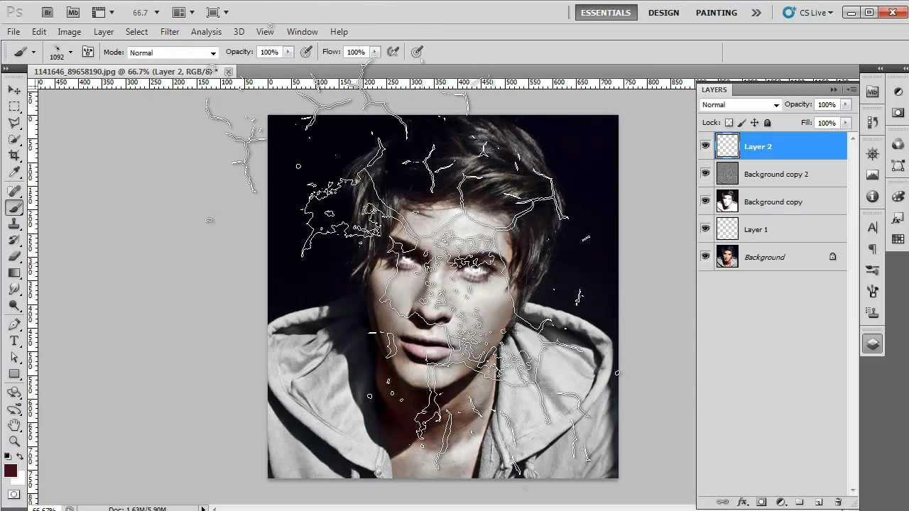 Как сделать зомби в фотошопе