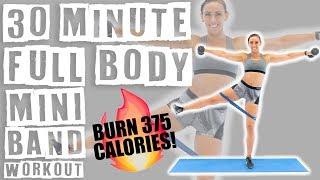 30 Minute Full Body Mini Band Workout 🔥Burn 375 Calories! 🔥