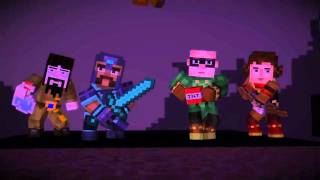 Minecraft: Story Mode episode 4 the order of the stone vs the Ender dragon