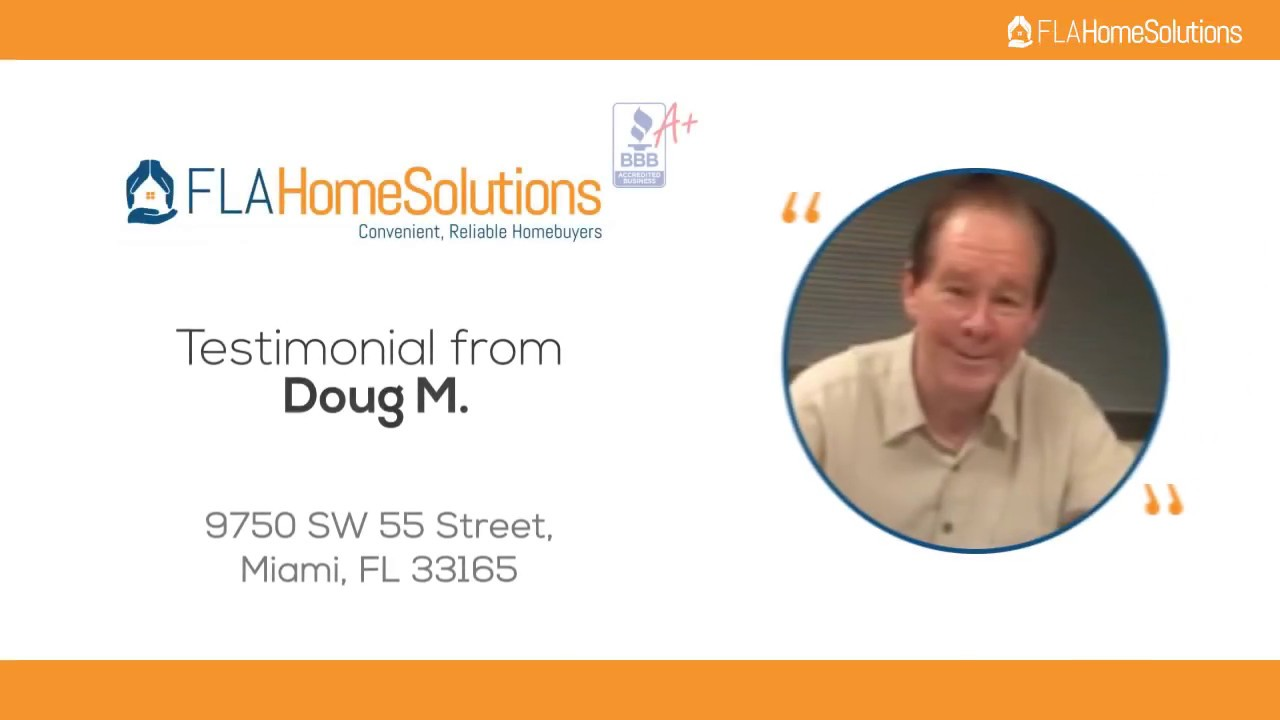 Visit www.FLAHomeSolutions.com, or Call 305-602-4105 - Doug's Testimonial for Creative RE-Solutions