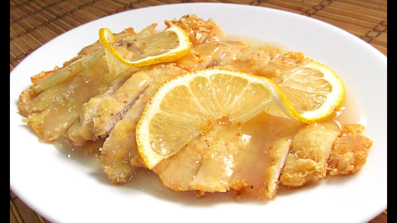 Pollo al limon estilo chino youtube - Salsa de pollo al limon ...