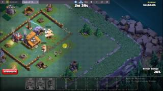 Use Bomber With Boxer Giants Clash of clans Builder Hall.