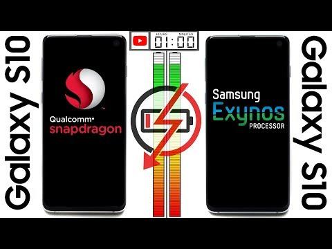 Galaxy S10 (Snapdragon) vs. Galaxy S10 (Exynos) Battery Test