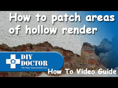 Repairing And Patching Rendered Walls   YouTube