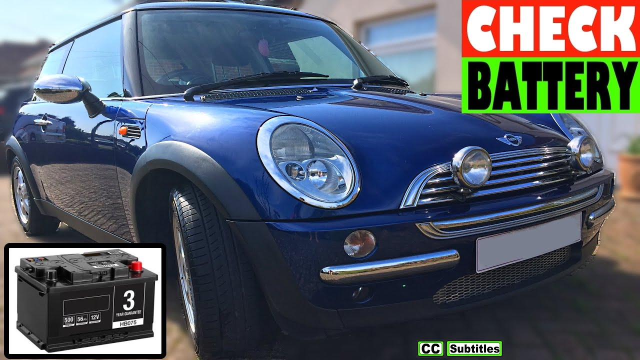 Mini Battery Location and How to check Battery on Mini R50 R53 First  Generation