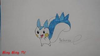 Cách vẽ và tô màu Pokemon Pachirisu
