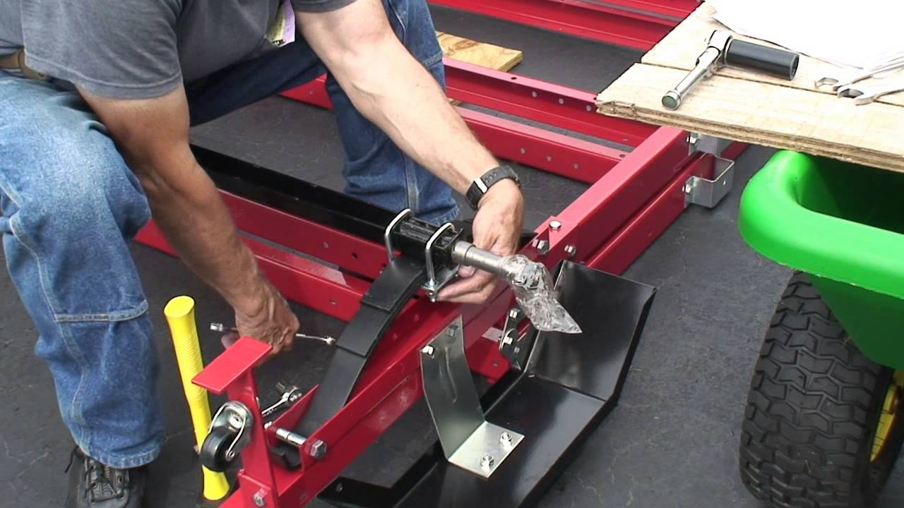 Harborfreight 90154 Folding Trailer Assembley 2 2 Youtube