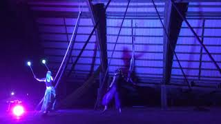 Campfire 2018 doubles aerial chain performance with Natalie Doud