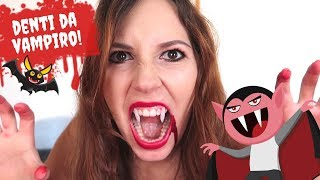 COME FARE I DENTI DA VAMPIRO IN CASA *DIY Halloween vampire teeth tutorial*