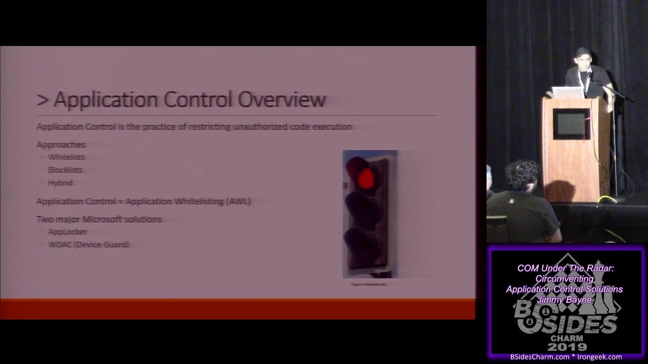 1 04 COM Under The Radar Circumventing Application Control Solutions Jimmy  Bayne