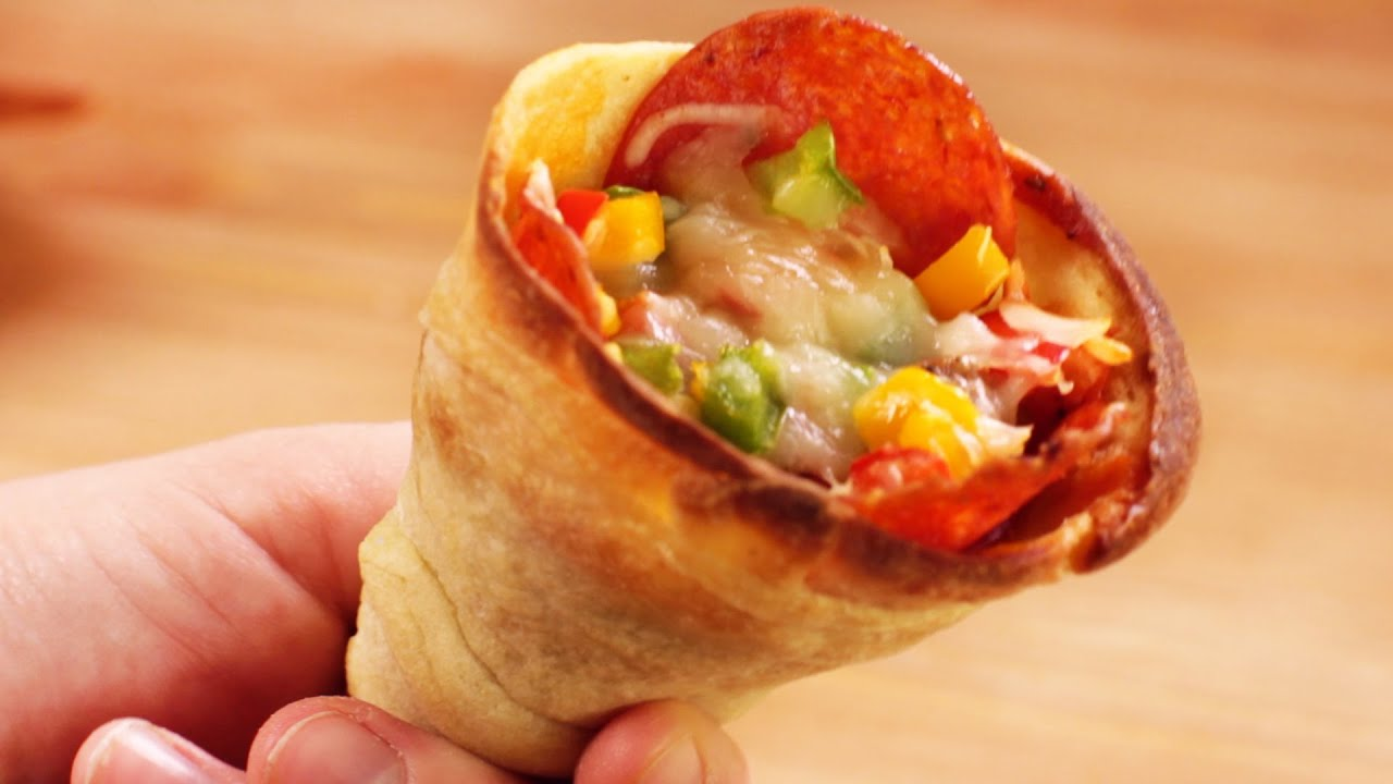 How To Make Pizza Cones Youtube