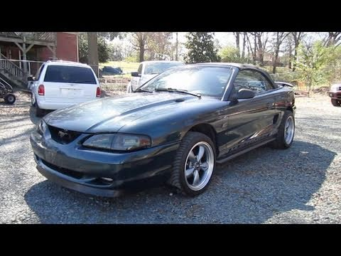 1995 Ford Mustang GT 50 Convertible Start Up Exhaust and In