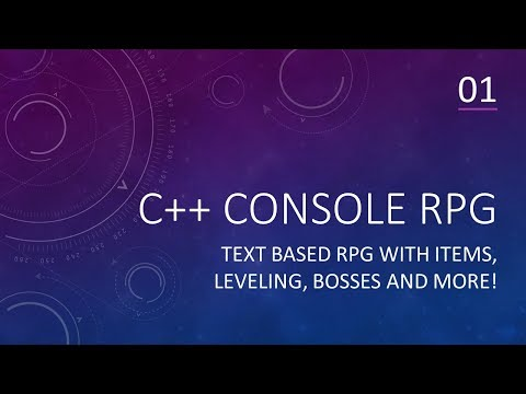 C++ Game Development | Console RPG | Part 01 | Items, Inventory, Leveling, Adventures and MORE!