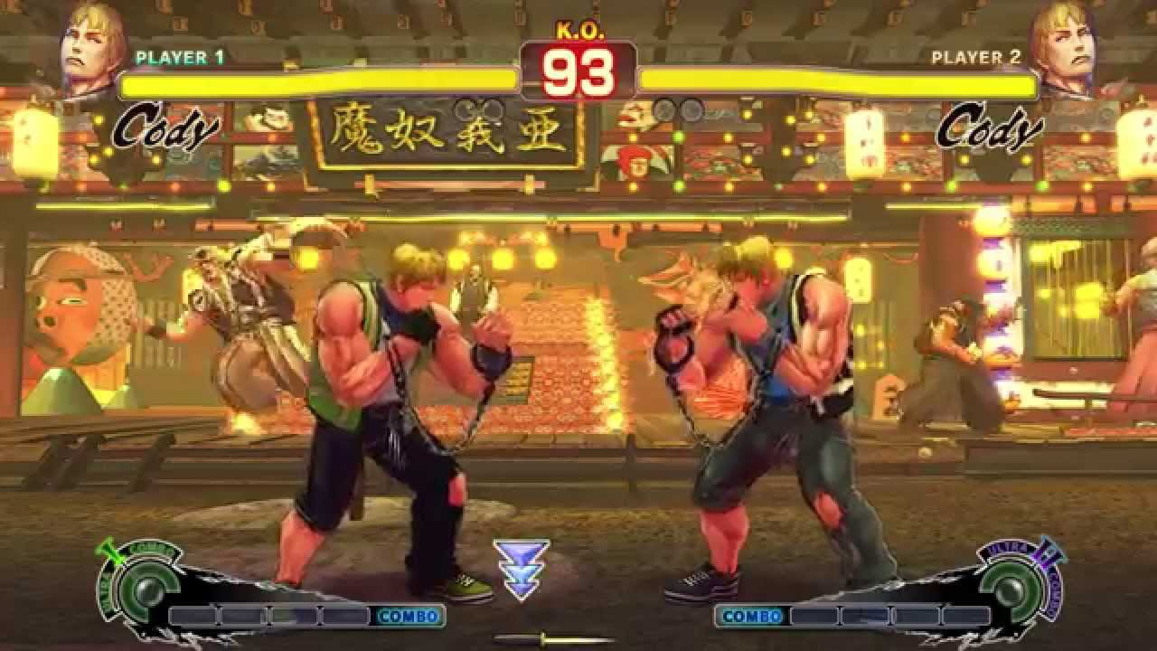 Ultra Street Fighter 4 Summer Costumes Cody All 22 Colors Youtube