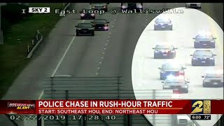 Police chase in rush-hour traffic