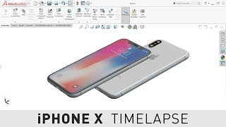 iPHONE X - SOLIDWORKS MODELING TIMELAPSE