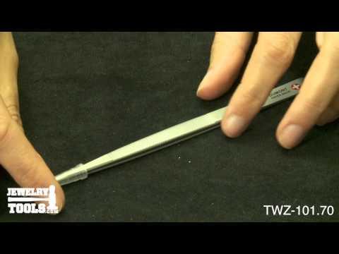 TWZ-101.70 - Original Dumont Diamond Tweezers, Stainless Steel, Fine Point - Jewelry Demo