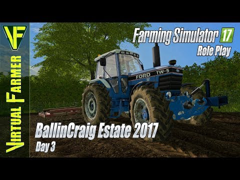 Shed Has Gone & We're Cultivating! | BallinCraig Estate 2017, Day 3 | Farming Simulator 17 Role Play