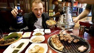 Authentic KOREAN BBQ in Seoul - Samgyeopsal & Banchans + Korean Craft Beer | Seoul, South Korea