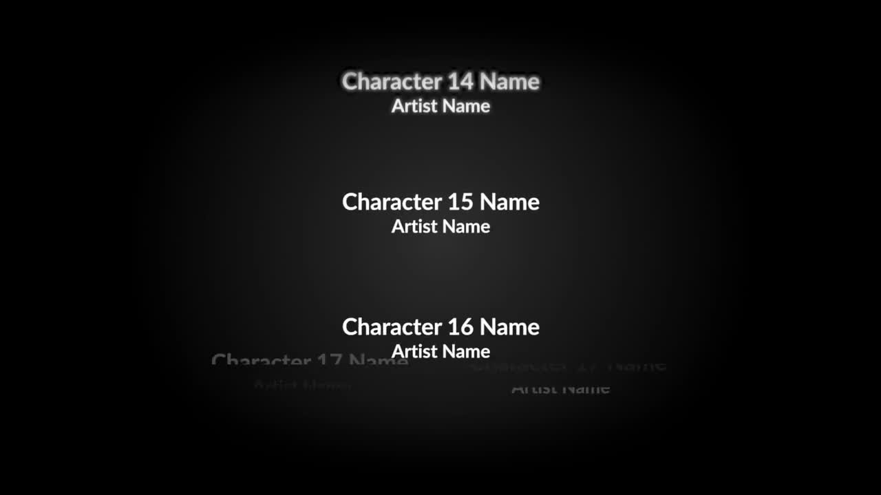 Movie End Credits Template