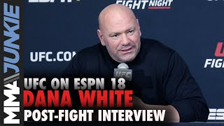 Dana White: Mike Tyson was 'f*cking awesome' in boxing comeback | UFC on ESPN 18 full interview