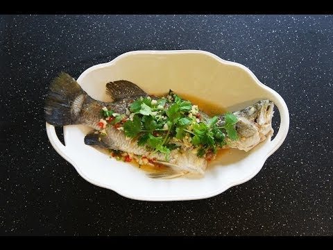 Steamed Fish With Garlic, Chili, & Lime Sauce