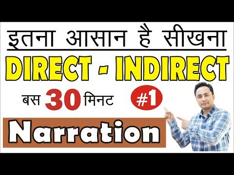अब आपकी मुट्ठी में Direct Indirect Speech/Narration Rules/Tricks In English Grammar In Hindi| Part 1