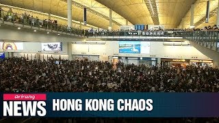 Hong Kong International Airport cancels all flights as protests continue on Monday