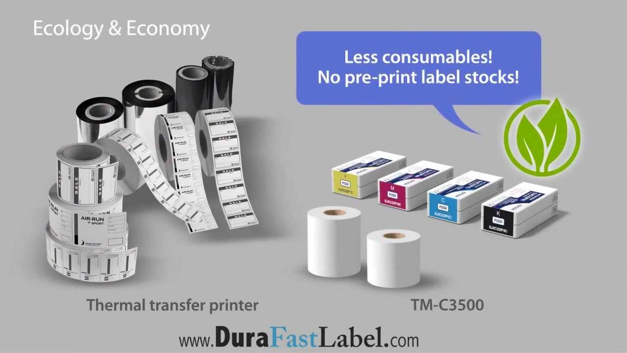 Color printer label - Epson Colorworks Tm C3500 Inkjet Color Label Printer Bs5609 Ghs Labels Printer