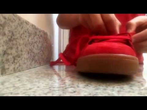How to clean Puma suede's+lace up tutorial!!